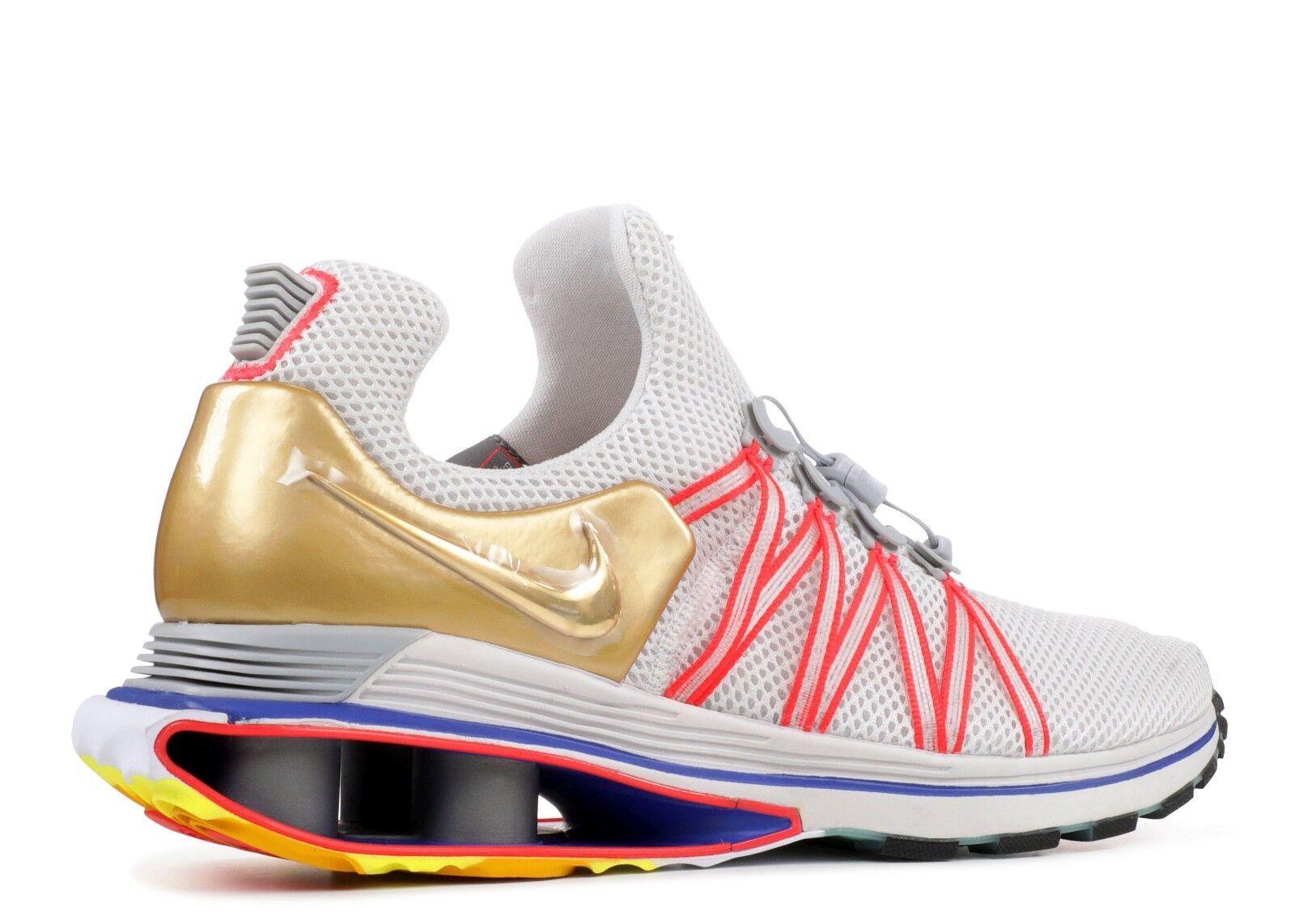 Nike Shox Gravity AQ8553-009 Vast Grey Metallic gold Mens Sz 12