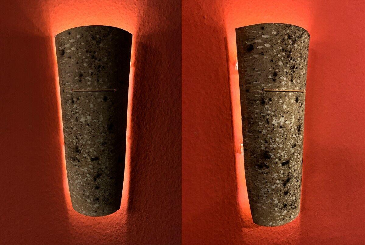 TOP Mediterrane Dachziegel Wandleuchte   Wandlampe; LED Batterie; Einzelstück