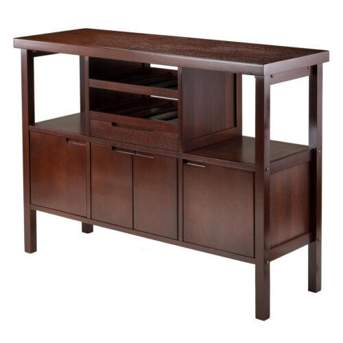 Sideboard Buffet Server Table Console Cabinet Dining Wine Bottle Rack Storage