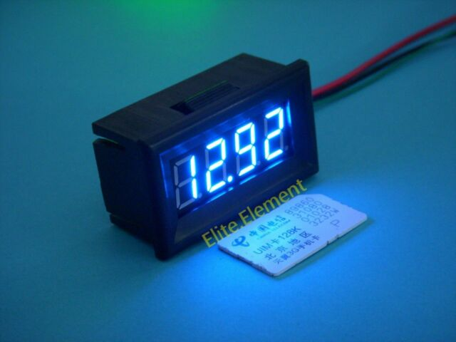 DC 0-33.00V High Precision 0.01V Battery Level Voltage Monitor Meter Blue GZ