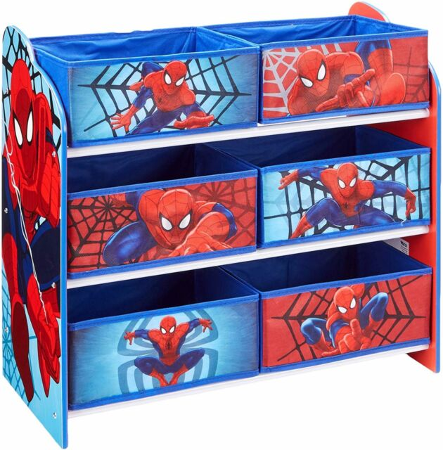 Marvel Spider Man Kids Bedroom Storage Unit With 6 Bins By Hellohome For Sale Online Ebay