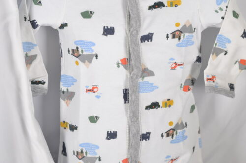 Baby Boy/'s CartersFleece Sleep /& Play Pajamas With Sleepbag White