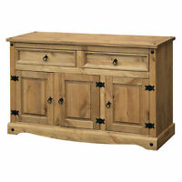 Premium Corona Sideboard With 2 Drawers 3 Doors - Waxed Mexican Pine