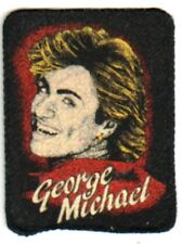 GEORGE MICHAEL  'SMILING''  vintage  sew on printed patch. WHAM  80's