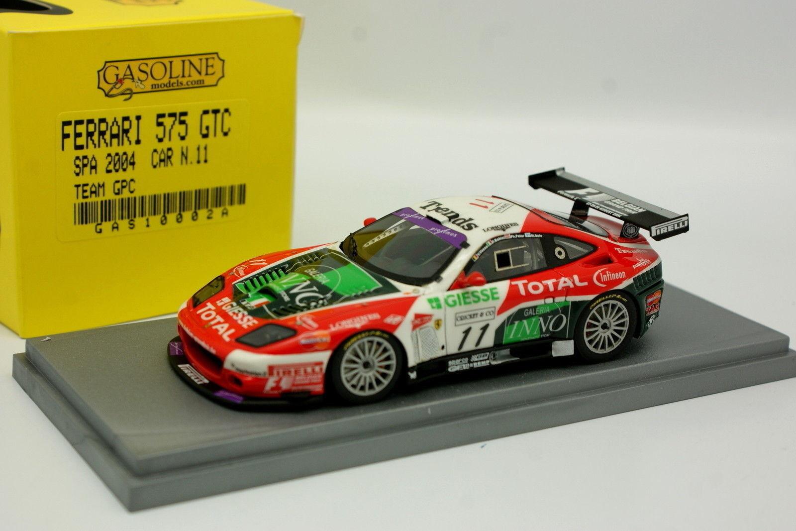 BBR Gasoline 1 43 - Ferrari 575 GTC Spa 2004 GPC N°11