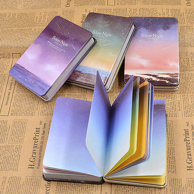 1PC Metal Cover Silent Night Notebook Paper Sketchbook Diary Journal Planner