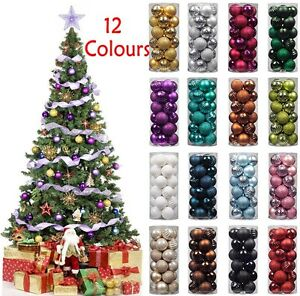 3-4-6-8cm-Christmas-Xmas-Tree-Ball-Bauble-Hanging-Party-Ornament-Decoration