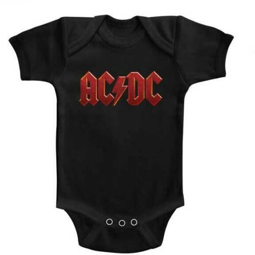 Pre-Sell AC//DC Music Licensed Bodysuit One Piece Jump Suit Baby Toddler Shirt