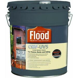 Flood cwf uv5 pro series wood finish exterior stain ebay for Exterior wood stain flood