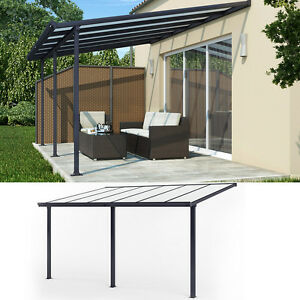 terrassen berdachung terrassendach pergola berdachung dach carport anthrazit ebay. Black Bedroom Furniture Sets. Home Design Ideas