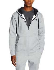 Under-Armour-Mens-Size-XL-Storm-Rival-Cotton-Full-Zip-BNWT-True-Grey-RRP-50
