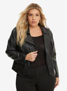 4ca344ea6bb9b Torrid Thor Ragnarok LOKI Faux Black Leather Marvel Jacket Womens ...
