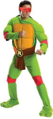 Raphael TMNT Teenage Mutant Ninja Turtles Fancy Dress Up Halloween Adult Costume