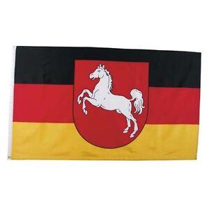 Fahne Niedersachsen Polyester Gr. 90x150 cm, mit Verstärkungsba<wbr/>nd