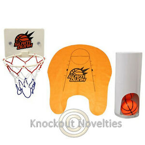 Slam Dunk Toilet Basketball Bathroom Bath Ball Basket Play Games Funny Gag Gift