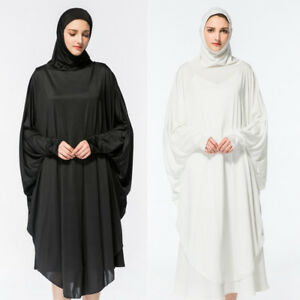 ffbc818cf9 Image is loading Muslim-Women-Overhead-Pullover-Hijab-Dress-Arab-Islamic-