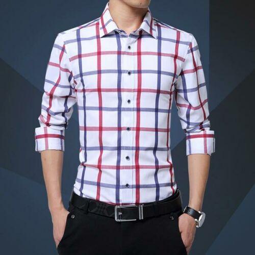 Business Casual Fashion Luxury Shirt Stylish Men/'s Long Sleeve Tops Dress Shirts