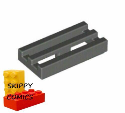 Lot x10 lego plate-grille flat radiator 1x2-4210631 grey f//dark grey