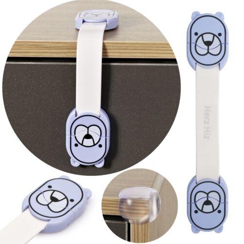 Herz Hiz Cupboard Cabinets Strap Locks Child//Baby Proof Safety Latches 10X 5X 2X