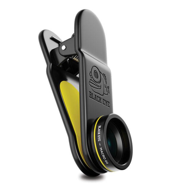 Black Eye Macro G4 Lens for all Smartphones, Tablets & Laptops