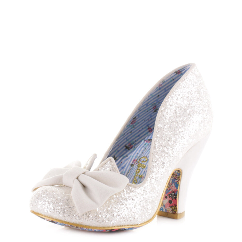 Damenschuhe Irregular Choice Nick Of Time Cream Glitter Größe Wedding Court Schuhes Uk Größe Glitter 28596d