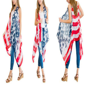Women-039-s-4th-of-July-American-Flag-Cardigan