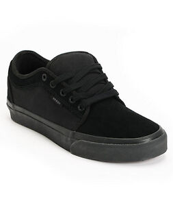 Image is loading VANS-CHUKKA-LOW-ALL-BLACK-UK-3-NEW-
