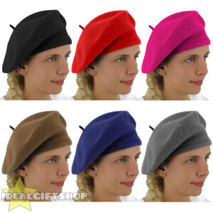 9eec943ace1 Image is loading LADIES-BERET-VINTAGE-FRENCH-CAP-FANCY-DRESS-COSTUME-