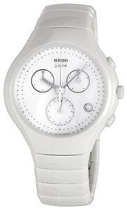 Rado True R27832702 Men's White Ceramic Jubile Chronograph Watch - New in Box