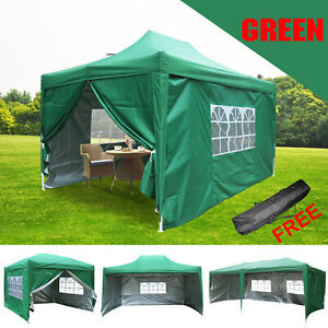 Pop Up Gazebo Marquee Outdoor Garden Party Tent Canopy With Silver Layer 5 Size