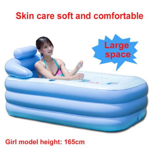 75cm DE PVC Aufblasbare Badewanne Tragbare Faltbar Beweglich Pool 160cm 82cm