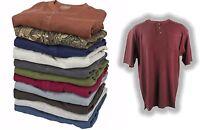 C.e. Schmidt Men's Thermal Short Sleeve Textured Henley Shirt 8 Colors M-4xl
