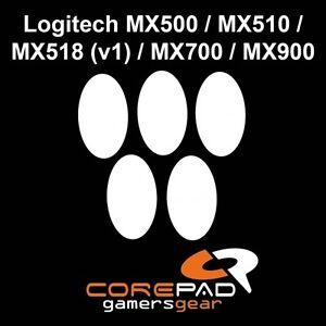 Corepad-Skatez-Logitech-MX500-MX510-MX518-V1-MX700-MX900-Ersatz-Mausfuesse-Teflon