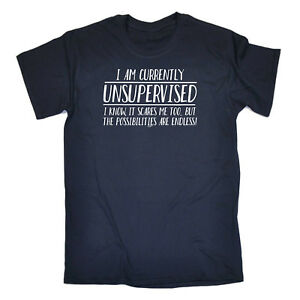Funny-Novelty-T-Shirt-Mens-tee-TShirt-I-Am-Currently-Unsupervised-The-Possisil