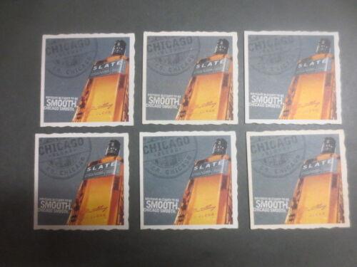 "6 x SLATE Bourbon Australian Issue COASTERS /""Chicago Smooth/"""