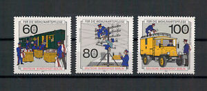 Berlin-Wohlfahrt-Geschichte-der-Post-amp-Telekom-MiNr-876-878-1990