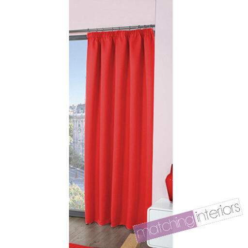 rot Plain Ready Made Light rotucing Tape Top Pencil Pleat Curtains 65 x 90