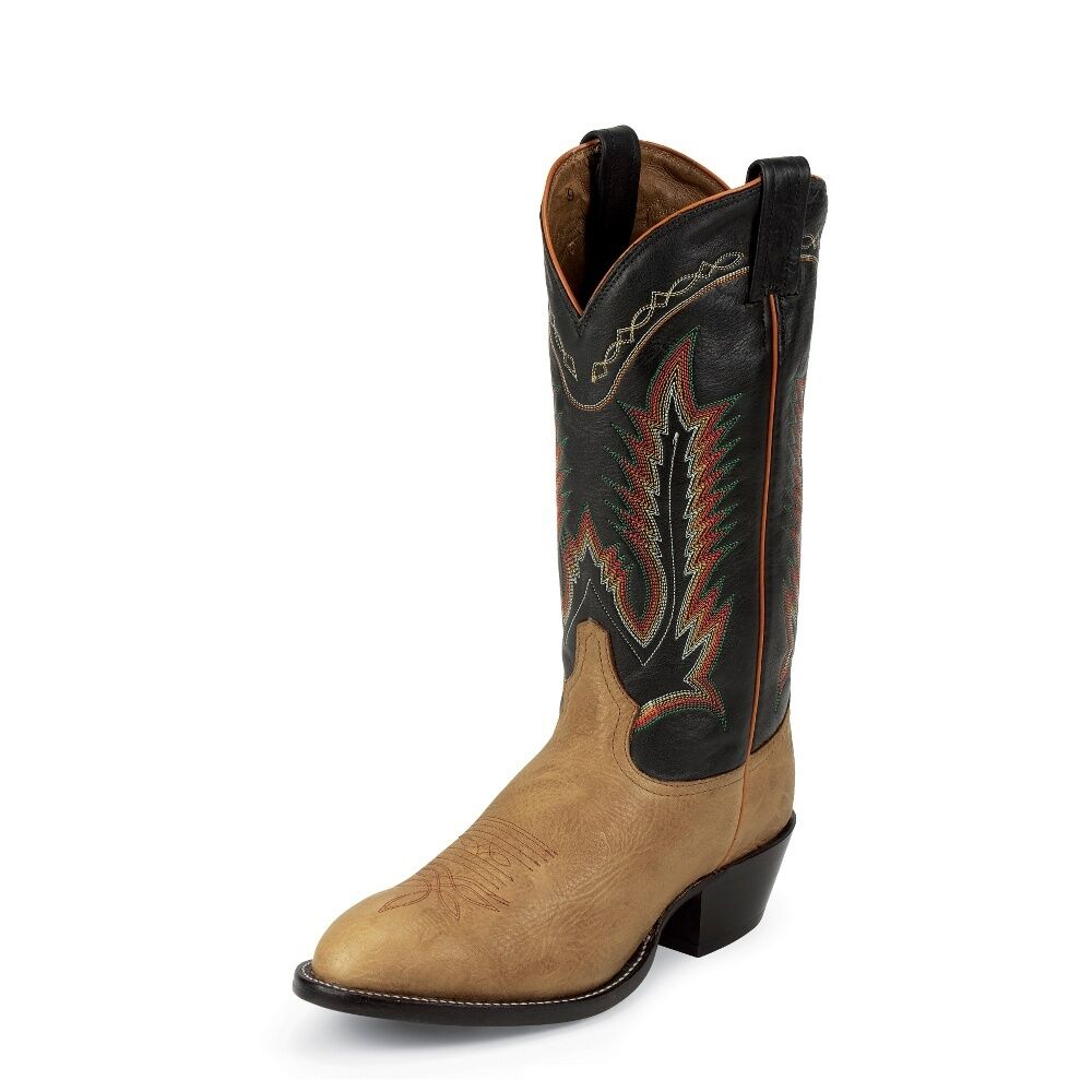 Tony Lama Men's Pecan Taurus Shoulder Cowboy Boot Round Toe - 6184C