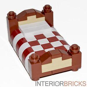 Lego Furniture Full Size Bed Red White Bedding Custom Set