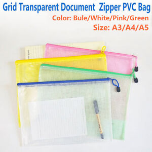 File Folder Office & School Supplies Pvc A4 A5 Clear Transparent Plastic Waterproof Stationery Case Zipper Bag Pouch Fast Color