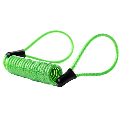 US/_ Anti-lost 120cm Spring Reminder Cable Anti Thief Security Alarm Disc Lock Fl