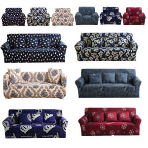 1 2 3 4 Seater Elastic Sofa Cover Slipcover Set Couch Stretch