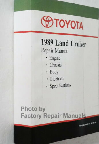 1989 Toyota Land Cruiser Factory Service Manual Shop Repair Book