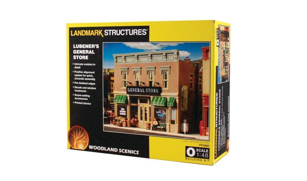 Woodland Scenics 5890, Lubener's General Store - O Scale Building Kit, PF5890