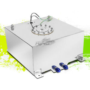 "10 GALLON//37.9L LIGHTWEIGHT ALUMINUM GAS FUEL CELL TANK+SENDER 16.5/""X16.5/""X9/"""