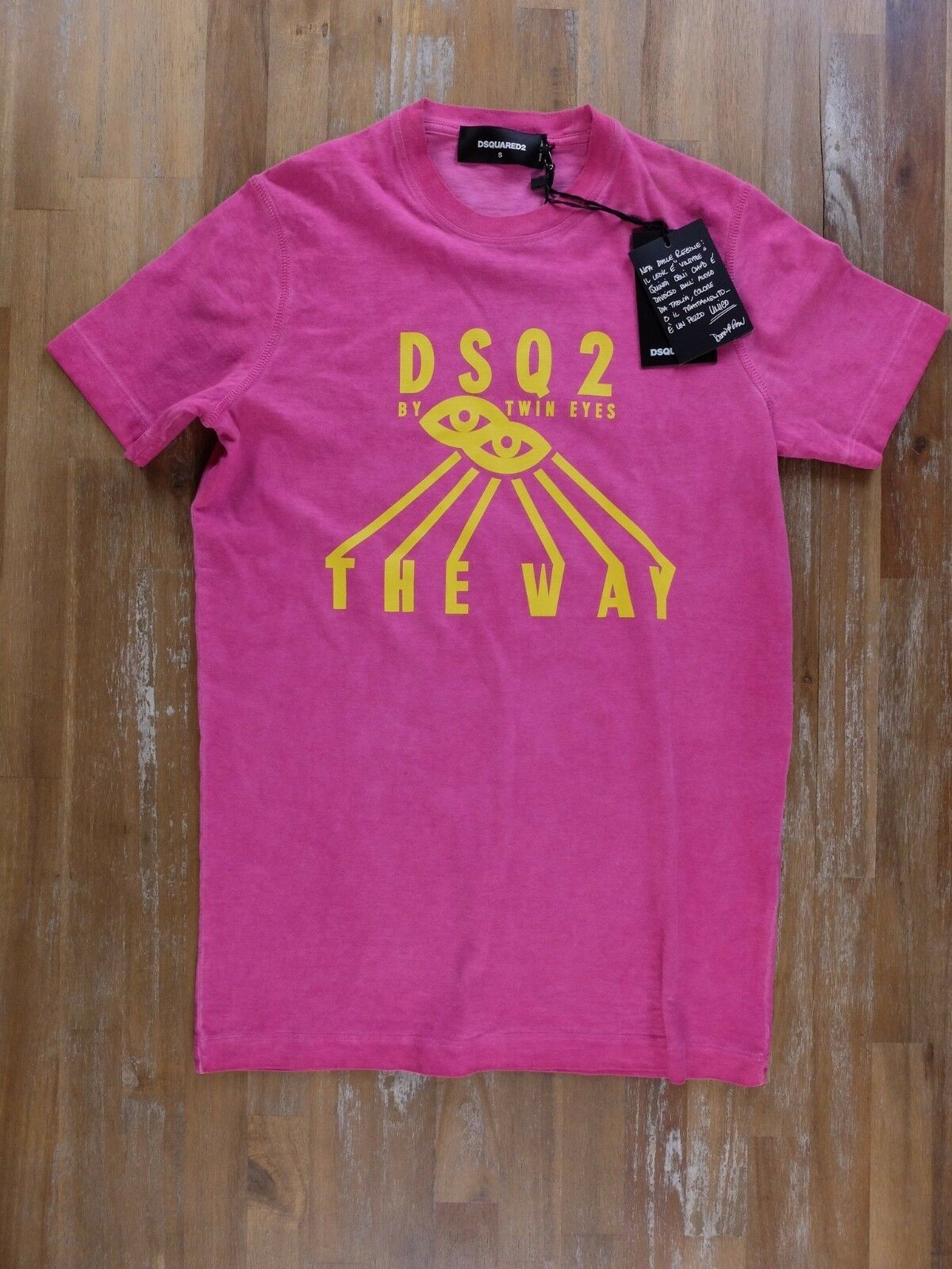 2da0bfc3 DSQUARED2 mens slim-fit pink t-shirt authentic - Size Small - NWT ...