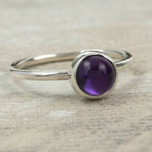 Amethyst Ring 925 Sterling Silver Ring Handmade Ring Boho Ring All Size KA-11