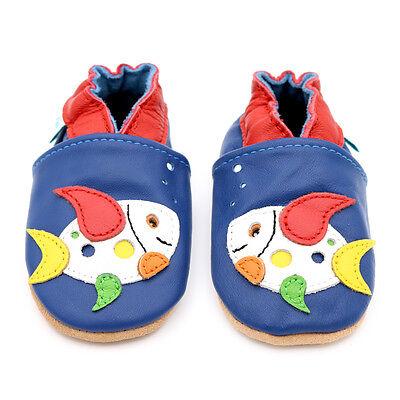 Nuevo De Cuero Suave Zapatos De Bebe De 0 A 6,6 -12,12 -18,18 -24 meses Dotty Peces