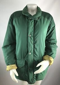 VTG-The-North-Face-Brown-Tag-Medium-Coat-Puffer-Jacket-Green-Bomber-Zip-Button