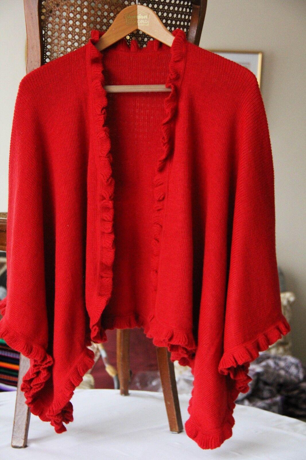 Ruana en laine d& 039;alpaga doux et ch coul ravissante artisanat péruvien
